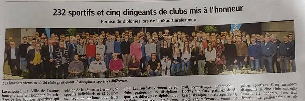 Sportlerehrung November 2019, Ville de Luxemb...